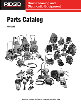 Drain Cleaning and Diagnostic Equipment Parts Catalog
